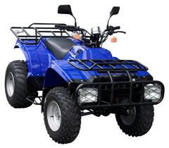 blue atv - brushguard and rack