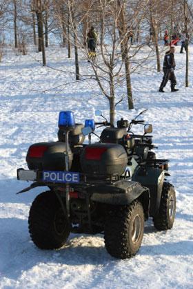 police atv in winter